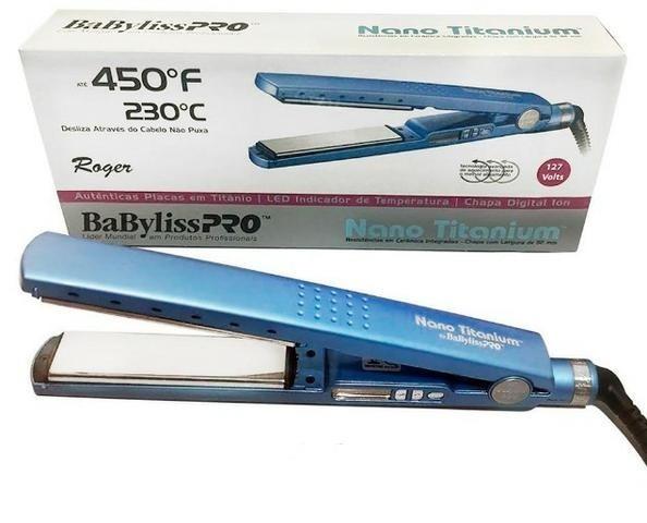b12d95953 Prancha Nano Titanium Babyliss Pro 1 1/4 (média) 450º F/230 - R$ 428 ...