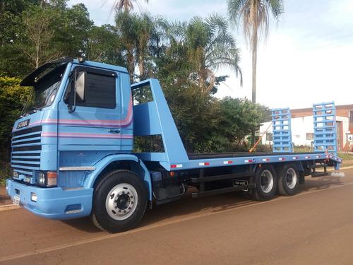 prancha scania  113 360 6x4 truck...