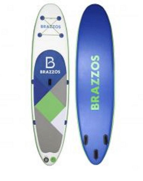3e4f3996e Prancha Stand Up Inflável Brazzos Sp Big Azul E Branco - R  3.897