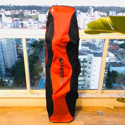 prancha wakeboard hyperlite machete (c/ capa) + acessórios