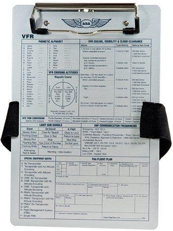 prancheta de voo asa kb-2 ifr c/ cinta elastica porta caneta