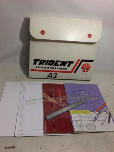 prancheta para desenho a3 trident usada