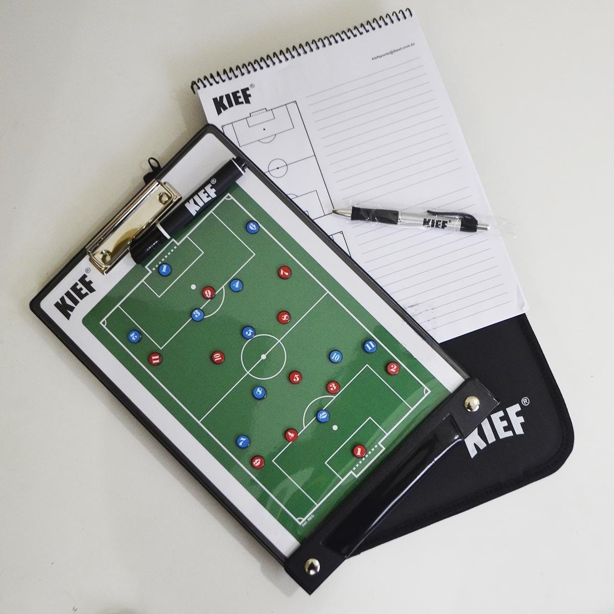 0f88828b43cf0 prancheta tática magnética top futebol campo kief com pasta. Carregando  zoom.