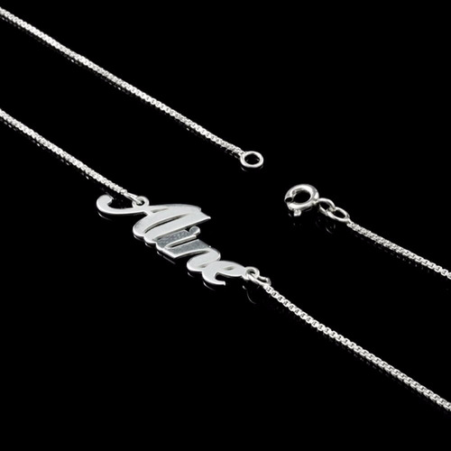 prata colar corrente