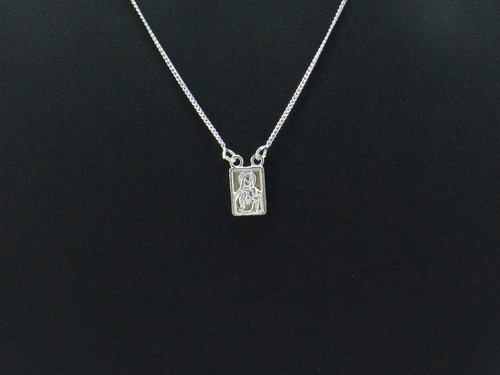 prata jóias escapulário feminino