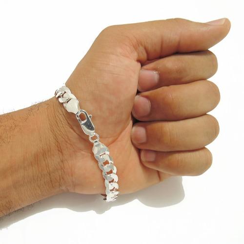 prata masculina pulseira