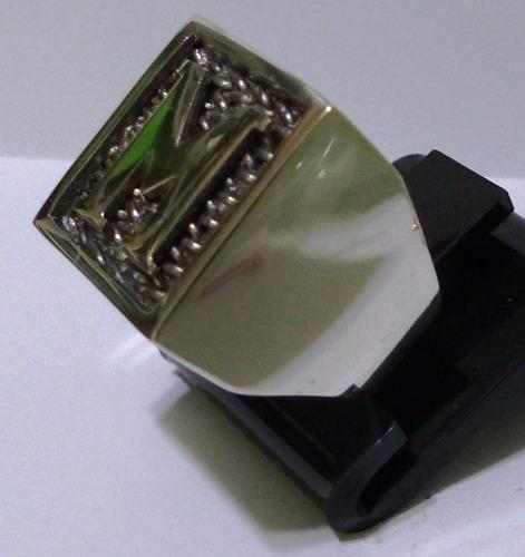 prata masculino anel