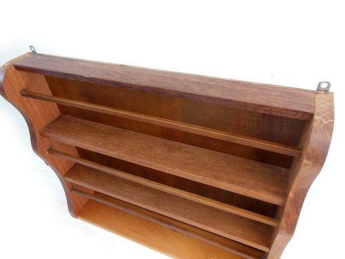 prateiro suporte de pratos de parede em madeira maciça