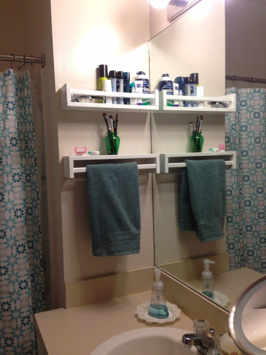 Prateleira Banheiro Cosméticos Perfume Nicho Armário 60cm  R$ 37,50 em Merca -> Nicho Armario Banheiro