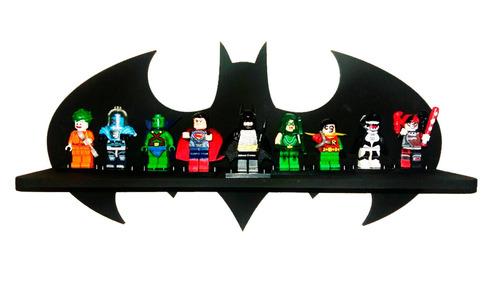 prateleira batman exposição e decoração + 6 legos