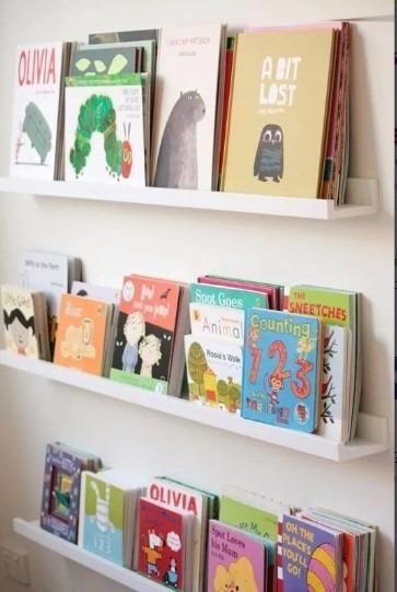 Prateleira Canaleta Porta Livros Infantil R 44 99 Em