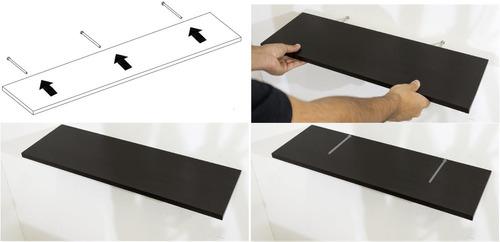 prateleira com suporte invisível - 20x90 cm