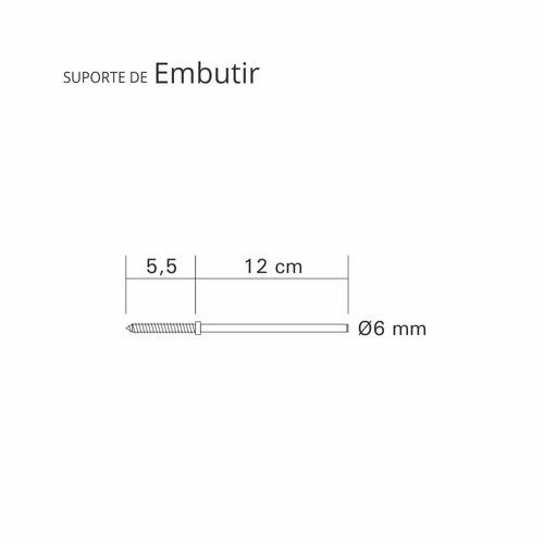 prateleira crie fácil carvalho 60x20cm com suporte invisível