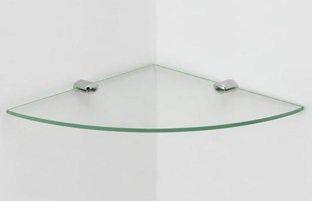 Estante De Vidro Temperado : Prateleira de canto 20 cm em vidro temperado 4mm r$ 22 90 em