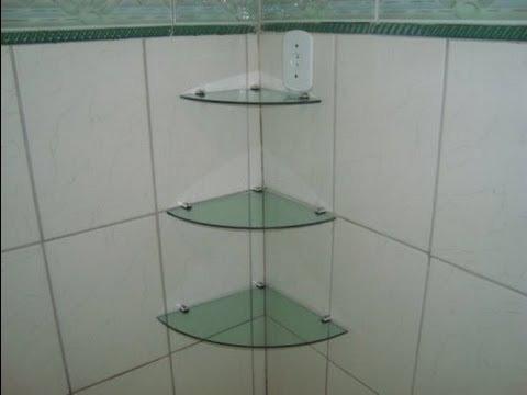 Estante De Vidro Temperado : Prateleira de canto cm em vidro temperado mm kit com r