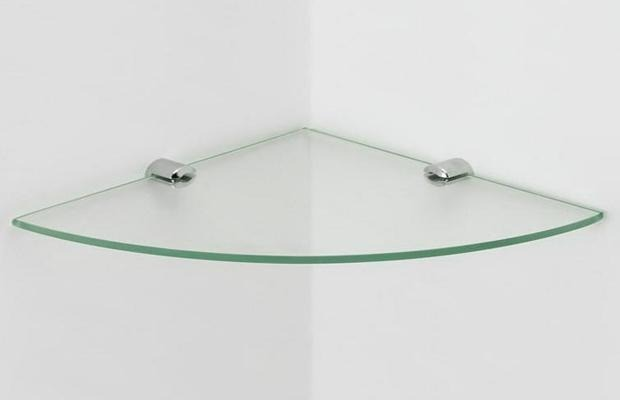 Estante De Vidro Temperado : Prateleira de canto em vidro temperado mm kit unid r