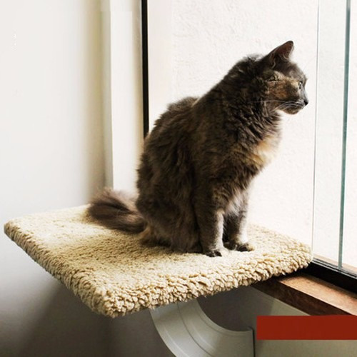 prateleira de janela suspensa gatos gatton spacecat bege