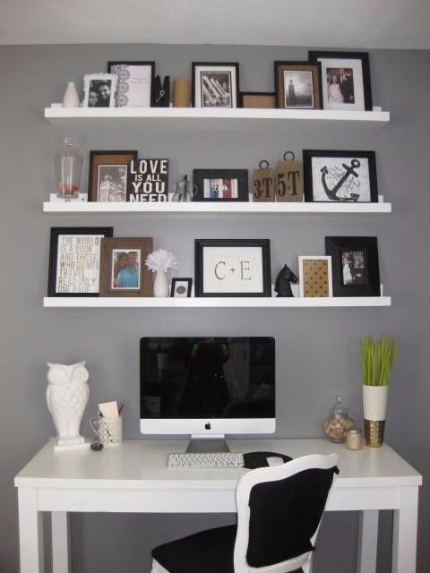 Prateleira de parede 1 0m p quadros fotos e livros mdf for Libreros originales