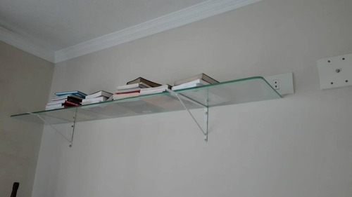 prateleira de vidro 1,50 x 25 cm