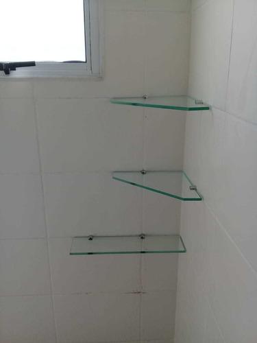 prateleira de vidro