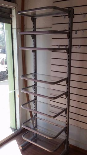 prateleira de vidro com armação de ferro perfeito estado