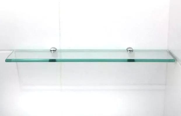 Estante De Vidro Temperado : Prateleira de vidro incolor temperado mm reto cm r
