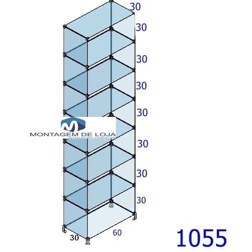 prateleira de vidro modulado 60cm promoção
