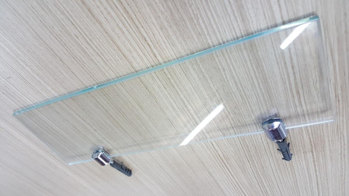 Estante De Vidro Temperado : Prateleira de vidro temperado com suportes cromados r$ 88 74 em