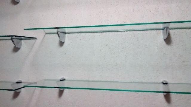 Estante De Vidro Temperado : Prateleira de vidro temperado lapidado 8mm 60 cm x 25 cm r$ 99 99