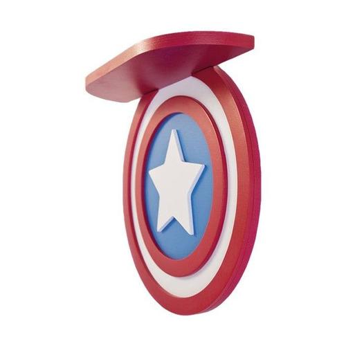prateleira decoração escudo capitão américa