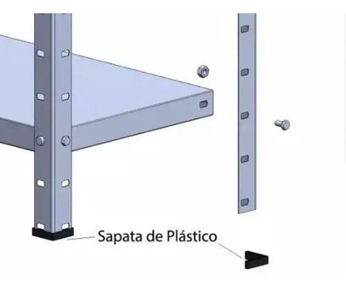 prateleira estante metal com 4 divisões metalica aço 200kg