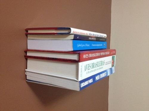 prateleira invisível para livros kit 08 pçs