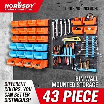 prateleira multiuso com 28 caixas organizador de ferramentas