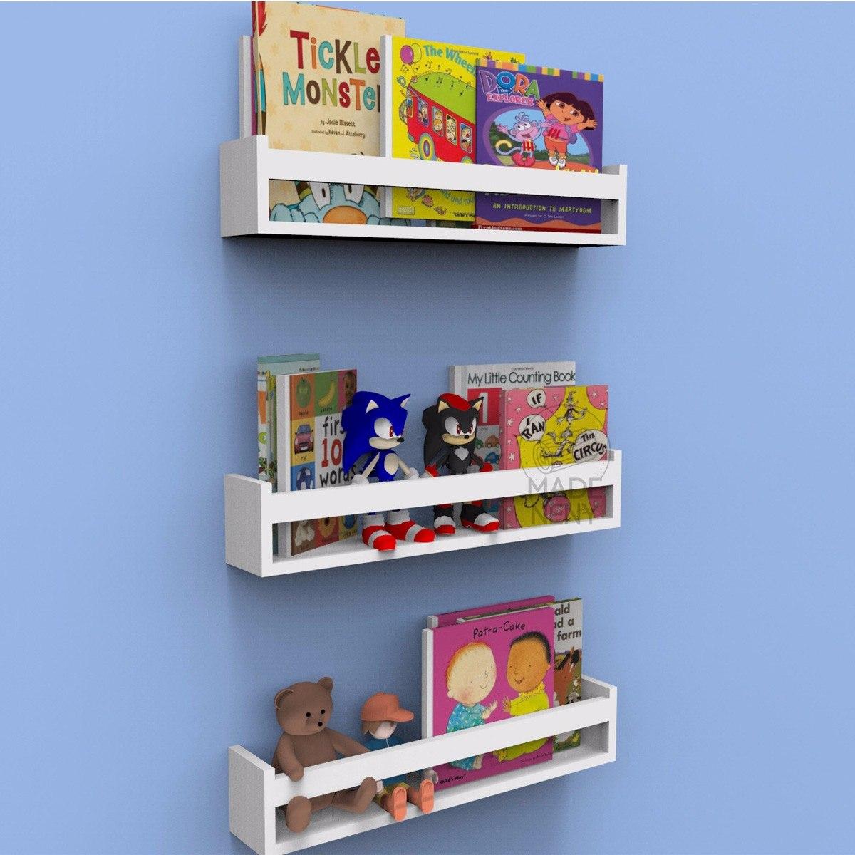 Prateleira Nicho Livros Infantil Quarto 60cm Kit 4 Pe As R 165  ~ Decoração De Quarto Infantil Com Nichos E Prateleiras