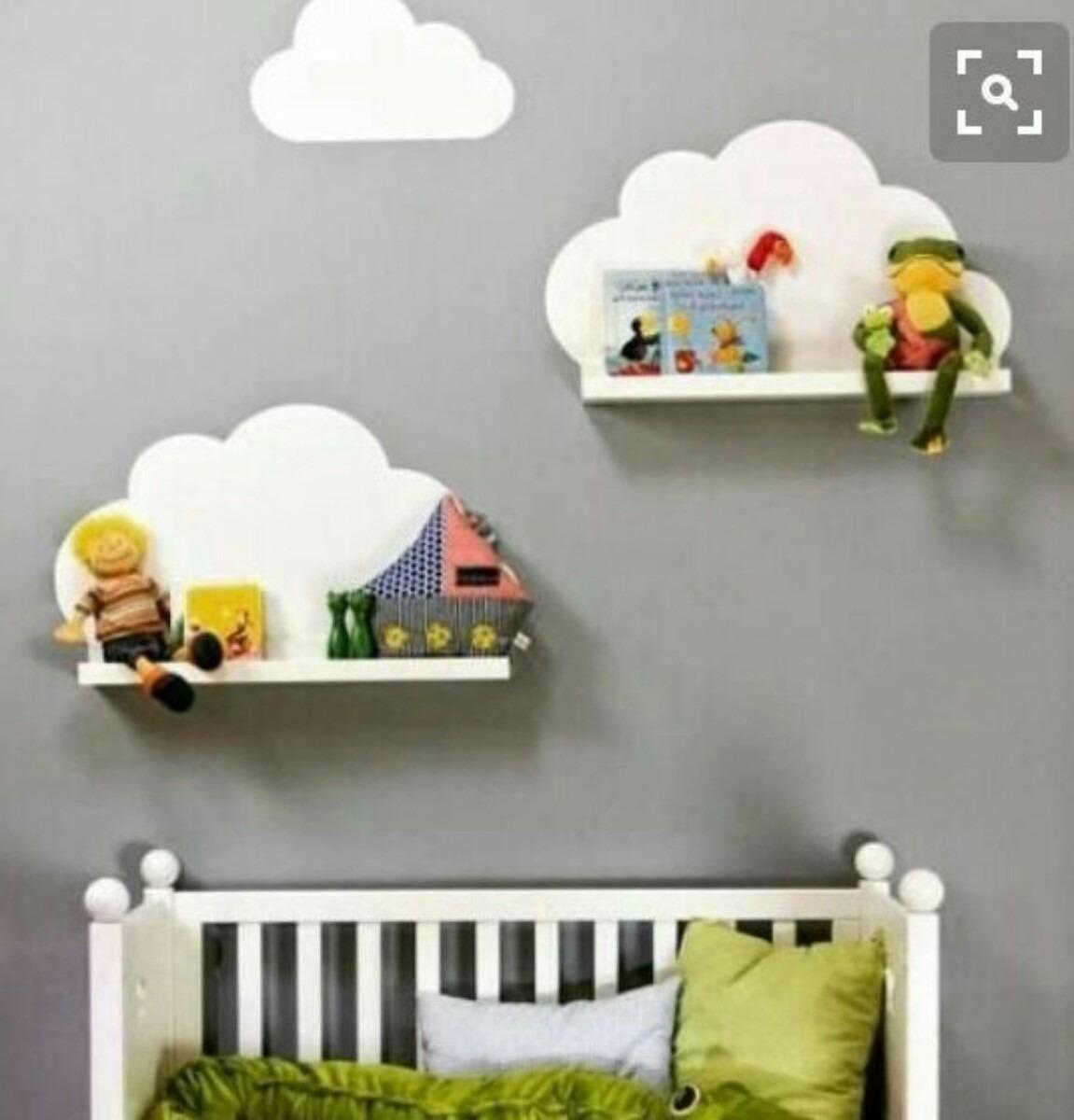 Mil Ideias De Decoração Quartos De Bebé: Prateleira Nuvem Mdf Cru,decoração Infantil Bebe Nicho