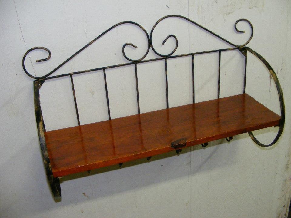 Prateleira, Parede, Rústica Estilo Antigo Ferro Madeira  R$ 119,00 em Mercad