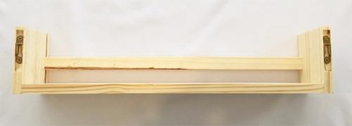 prateleira porta livros de pinus - 60cm