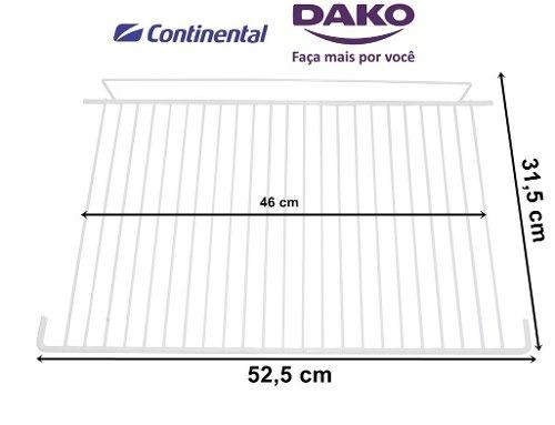 prateleira refrigerador continental/dako 52x31 grade