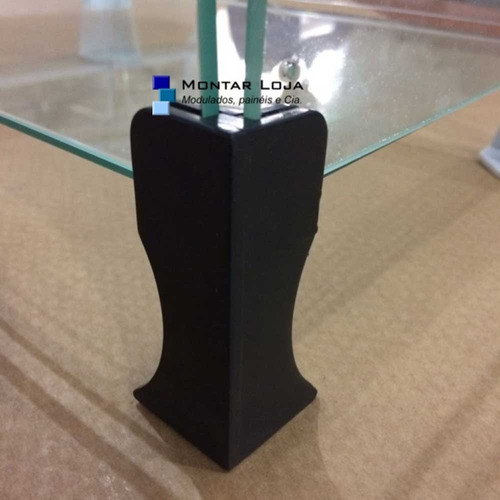 prateleira vitrine de vidro modulado 2,0m p018