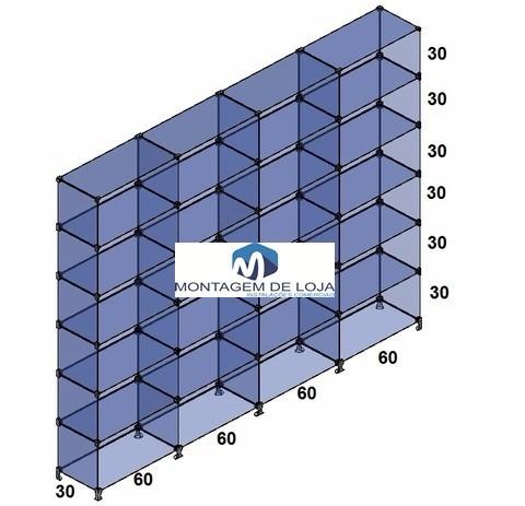 prateleiras de vidro modulado  e temperado 2,40x1,90x0,30 mt
