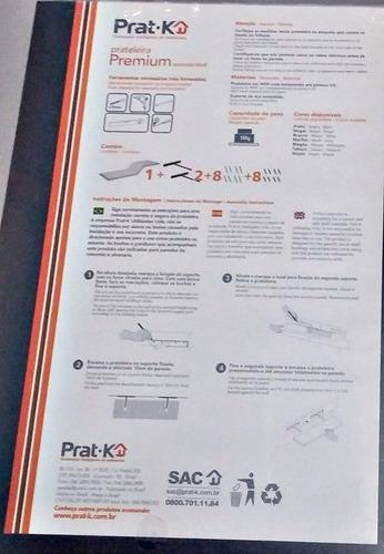 prat.k prateleira premium branco/preto com fixação embutida