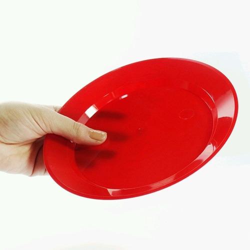 prato acrílico redondo 22cm c/ 150un.