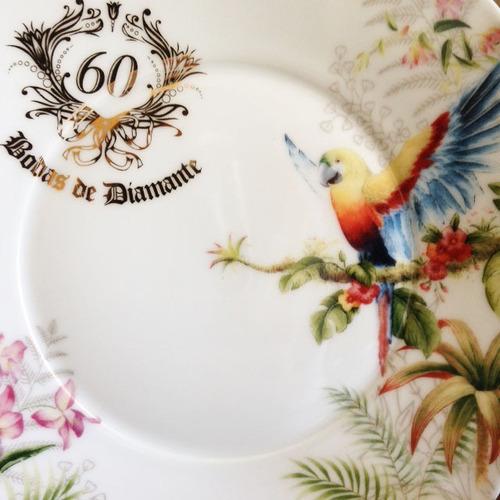 prato arara bodas de diamante, 60 anos de casamento