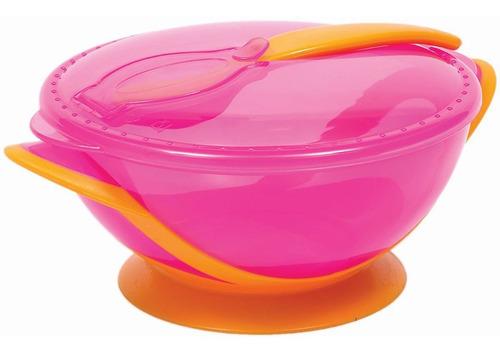 prato buba baby rosa pote com ventosa para bebe pratinho criança bowl com fixador sem bpa .
