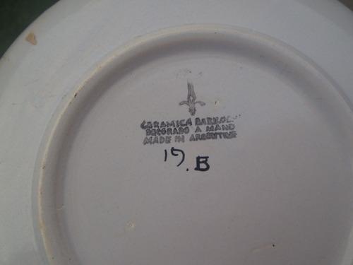 prato cerâmica importado pintado mão decoração enfeite