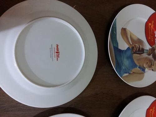 prato coca cola produto original 6 peças  porcelana 27x27 cm