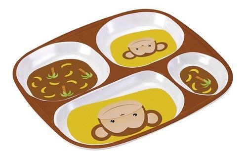prato com divisorias macaco pratinho infantil bebê