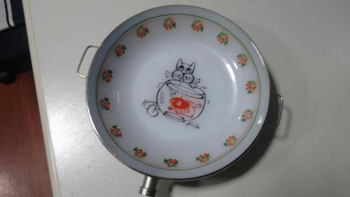 prato de papinha de nenem termico antigo usado