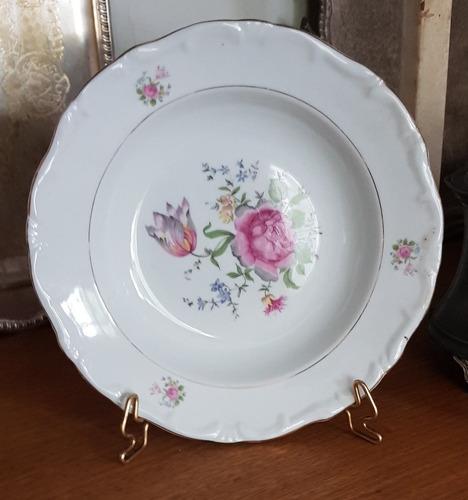 prato de parede antigo decorativo porcelana steatita lindo!