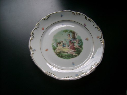 prato de porcelana schmidt - belíssimo